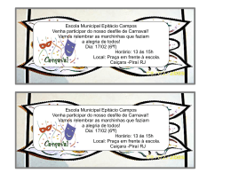convite carnaval