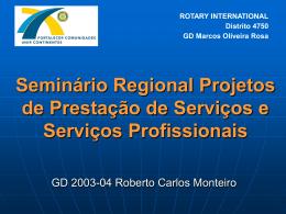 Slide 1 - Rotary Distrito 4750