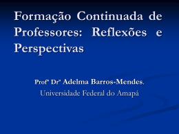 Formação Continuada de Professores - Unifap