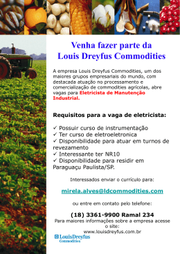 Venha fazer parte da Louis Dreyfus Commodities