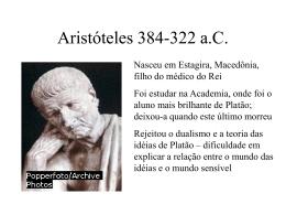 Aristóteles 384/3-322 a.C.