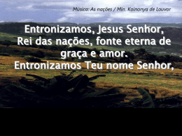 Santo é o Senhor - Comunidade Batista