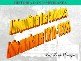 Independencia América Espanhola