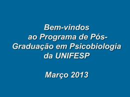 Programa de Pós-Graduação em Psicobiologia da UNIFESP