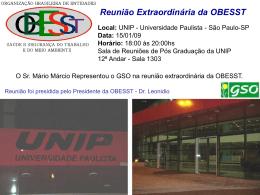reunião extraordinária da obesst | 532.0 kb