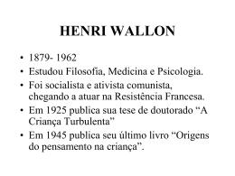 HENRI WALLON - Marco Aurélio Togatlian