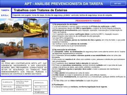 APT 02 - Trabalhos com Tratores de Esteiras