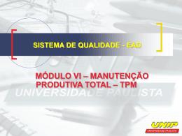 manutenção produtiva total – tpm