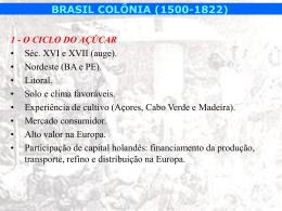 BRASIL COLÔNIA (1500-1822)