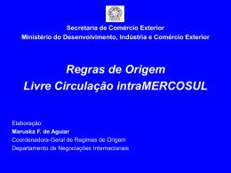 GSP rules of origin - Ministério do Desenvolvimento, Indústria e