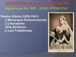 INGLATERRA E EUA NO SÉCULO XIX