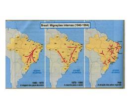 migrações no brasil - Colégio Dom Aguirre