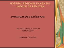 intoxicações exógenas - Paulo Roberto Margotto