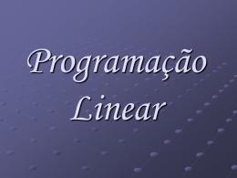 Programacao Linear - Departamento de Matemática