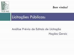 Introdução à contabilidade pública - TCE-RO