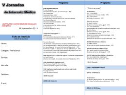 Programa ORGANIZAÇÃO - Página Web do Internato Médico do