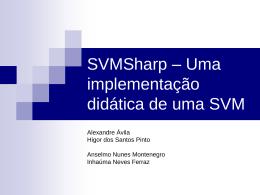 SVMSharp – Uma implementação didática de uma SVM