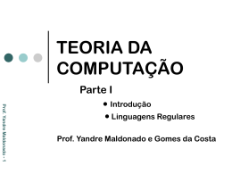 TEORIA DA COMPUTAÇÃO I