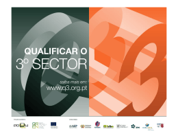 Qualificar o 3º Sector