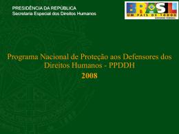 Estrutura do PPDDH