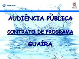 Apresentação Audiência Pública COP GUAÍRA