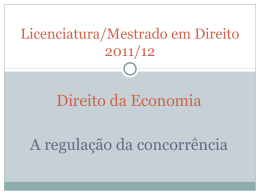 DIREITO DO MERCADO - Faculdade de Direito da UNL