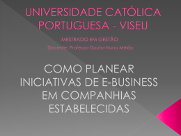 E-BUSINESS - Molar - Universidade Católica Portuguesa
