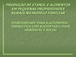produção de etanol e alimentos em pequenas propriedades rurais