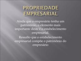 Propriedade Empresarial - Universidade Castelo Branco
