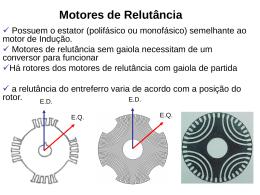 Motores de Relutância