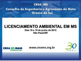 Licenciamento Ambiental em MS - Crea-SP