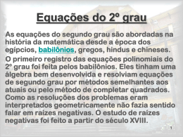 Equação do segundo grau