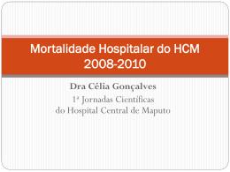 Mortalidade Hospitalar do HCM 2008-2010