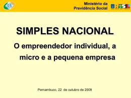 (em %) - Ministério da Previdência Social