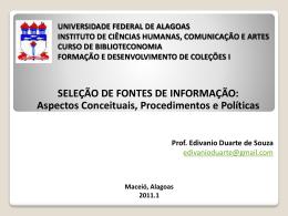 seleção - Instituto de Ciências Humanas Comunicação e Arte