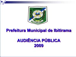 metas fiscais - Ibitirama, ES