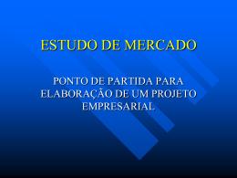 ESTUDO DE MERCADO
