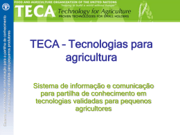 TECA – Technologies for agriculture