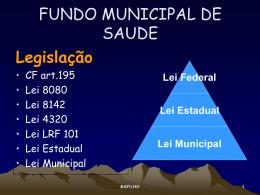 FUNDO MUNICIPAL DE SAUDE - Secretaria de saúde da Paraíba