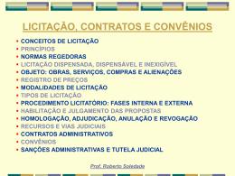 Licitação e Contrato Administrativo