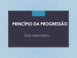 Princ?pio da Progress?o