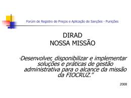 FÓRUM DE COMPRADORES - Diretoria de Administração