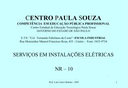 serviços em instalações elétricas - Etec Cel. Fernando Febeliano da