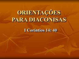 GUIA DE PROCEDIMENTOS PARA DIACONISAS