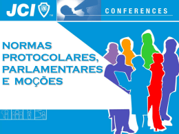 normas parlamentares, protocolares e moções
