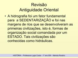 REVISÃO ANTIGUIDADE ORIENTAL