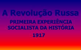 História - Revolução Russa