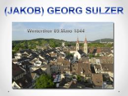 Biografia de J.Georg Sulzer (PowerPoint) 8 MB