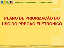 REALIZADAS Ministério do Planejamento, Orçamento e