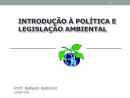 introdução à política e legislação ambiental